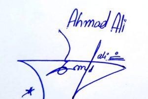 Ahmad Ali Signature Styles