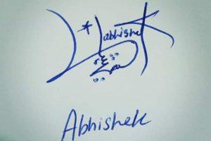 Abishek Name Signature Style