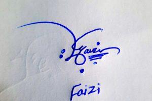 Faizi Name Online Signature Styles
