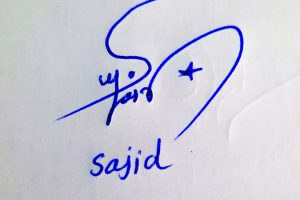 Sajid Name Online Signature Styles