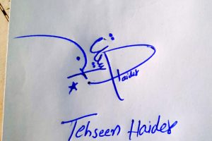 Tehseen Haider Name Online Signature Styles