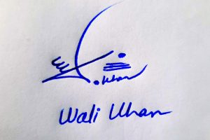 Wali Khan Name Online Signature Styles