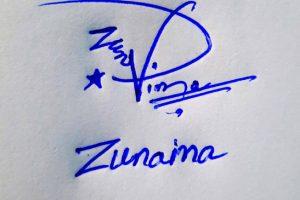 Zunaina Name Online Signature Styles